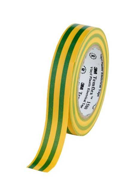 Изолента ПВХ  желто-зеленая 3M