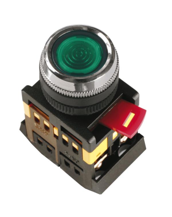 """Кнопка SB-7 """"ПУСК"""" (зеленая 22мм)"""
