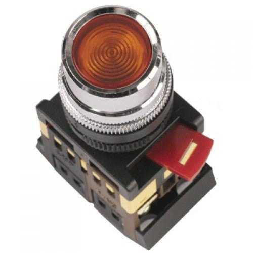 Кнопка АBLFS-22(красный неон)