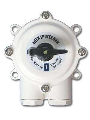 Пакетн. Выкл ПВ3 (16А) в пл корпусе IP56 220/380