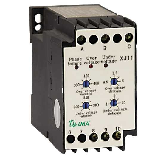 Реле контроля фаз и напряжения XJ11(РКФН-11Л) 380V