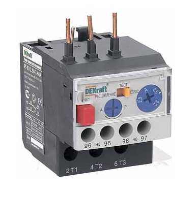 Реле тепловое РТ-103 (4,50-6,30А) 9-18А DEKraft