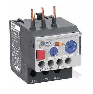 Реле тепловое РТ-103 (5,00-7,00А) 9-18А DEKraft