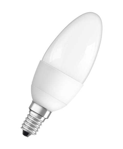 Лампа LED C40 Свеча 5.4w 3000K E14 LEDVANCE
